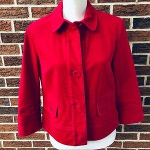 Talbots Stretch Red Denim Jacket Sz 12